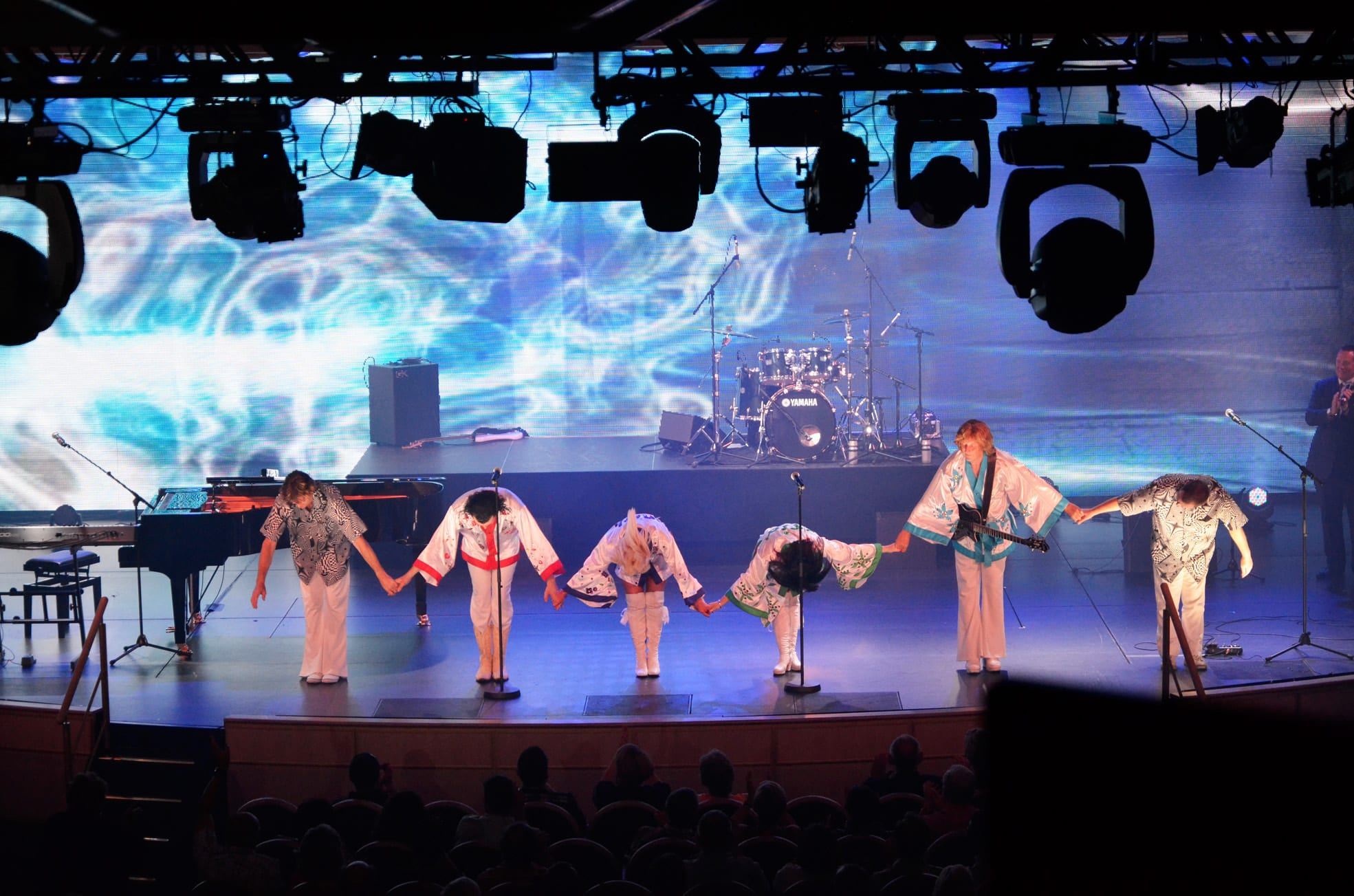 'Arrival' on the Royal Princess taking a bow at the end of the show