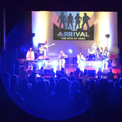 Abba Arrival On Stage Whitley Bay