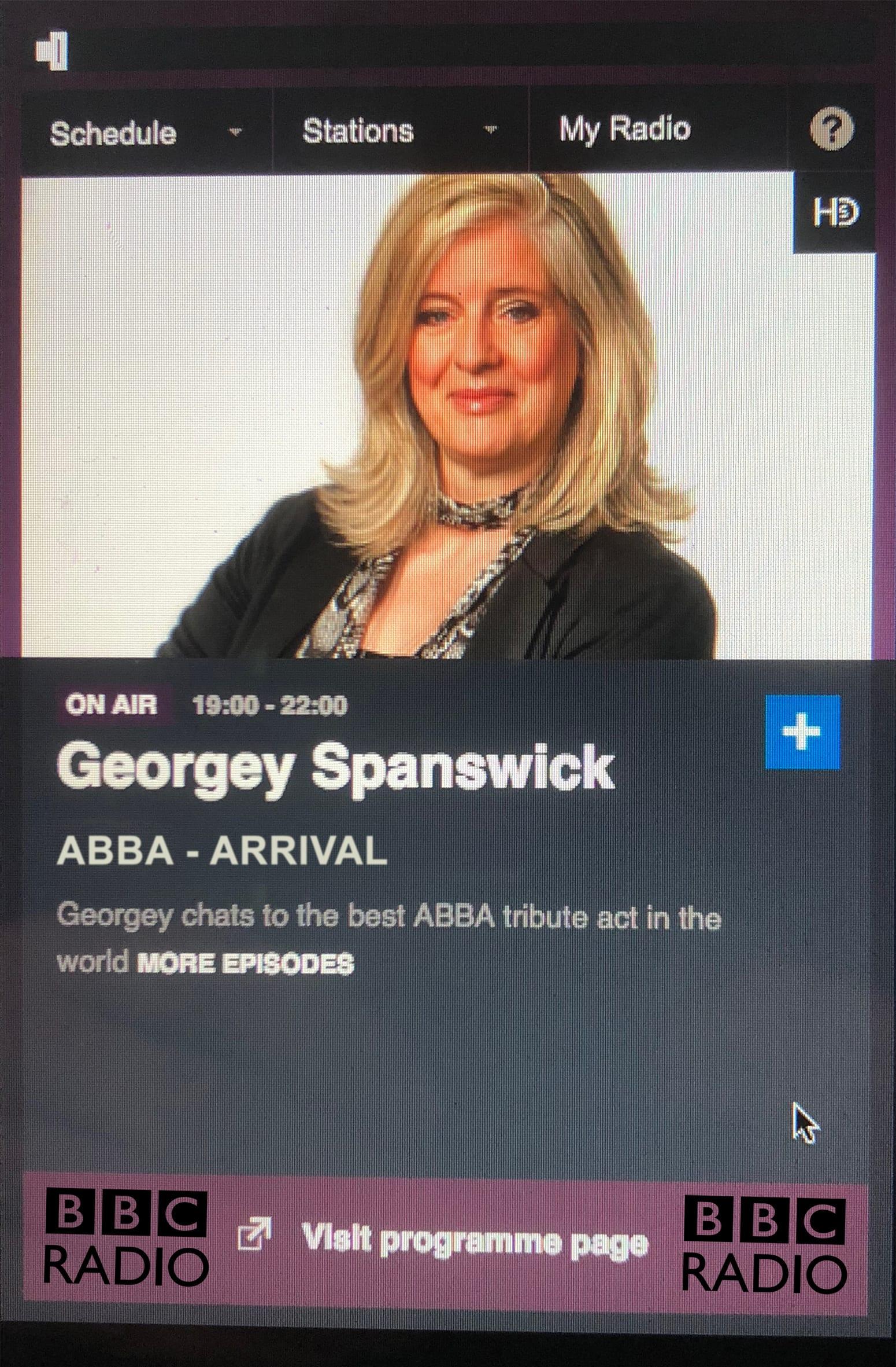 ABBA Arrival BBC Radio 2018